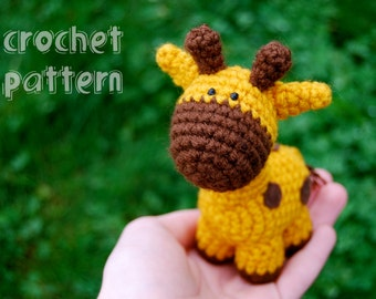 PDF CROCHET PATTERN - Stumpy the Giraffe