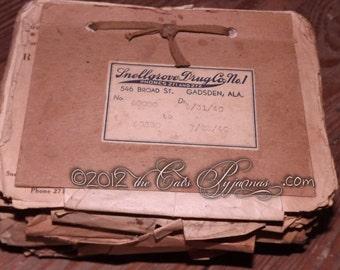 Vintage Prescriptions Lot of 5 hand written RX ephemera 1940