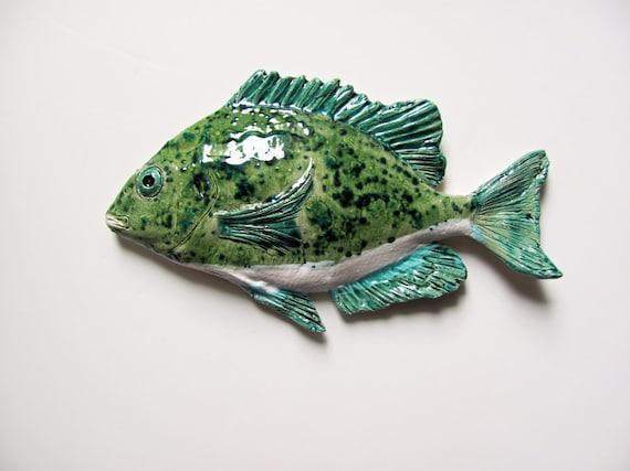 Ceramic Scup Art Fish Wall Hanging
