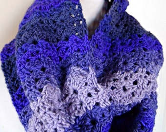 Infinity Scarf - purple stripes