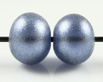 Regular Hollow SALE - Sapphire Blue Sparkle Hollow Lampwork Glass Bead Pairs