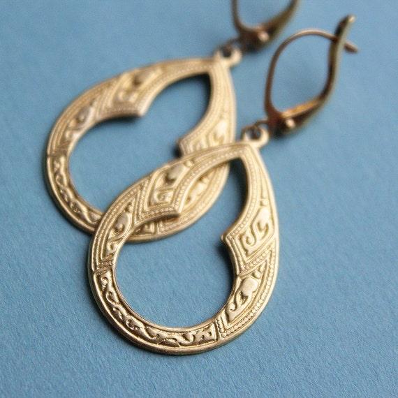 Amina Earrings - Small - Brass