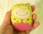 polina matryoshka doll- normal size-- handproduced--(ship in 1 day)