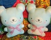 Soft Blue Baby Bear -- doll/pillow/plush/softie/decor