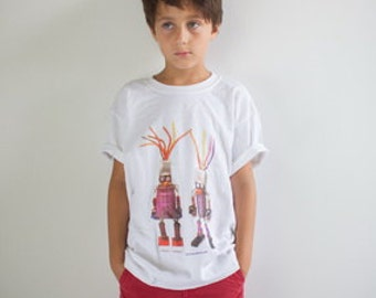 Robot Couple T-Shirt in Kid Sizes