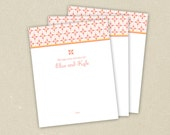 Marriage Wishes and Advice Cards for Bridal Shower: Summery Pattern