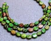 Aqua Terra Ovals- gemstone beads