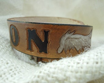 Angel Wings Personalized Leather Dog Collars