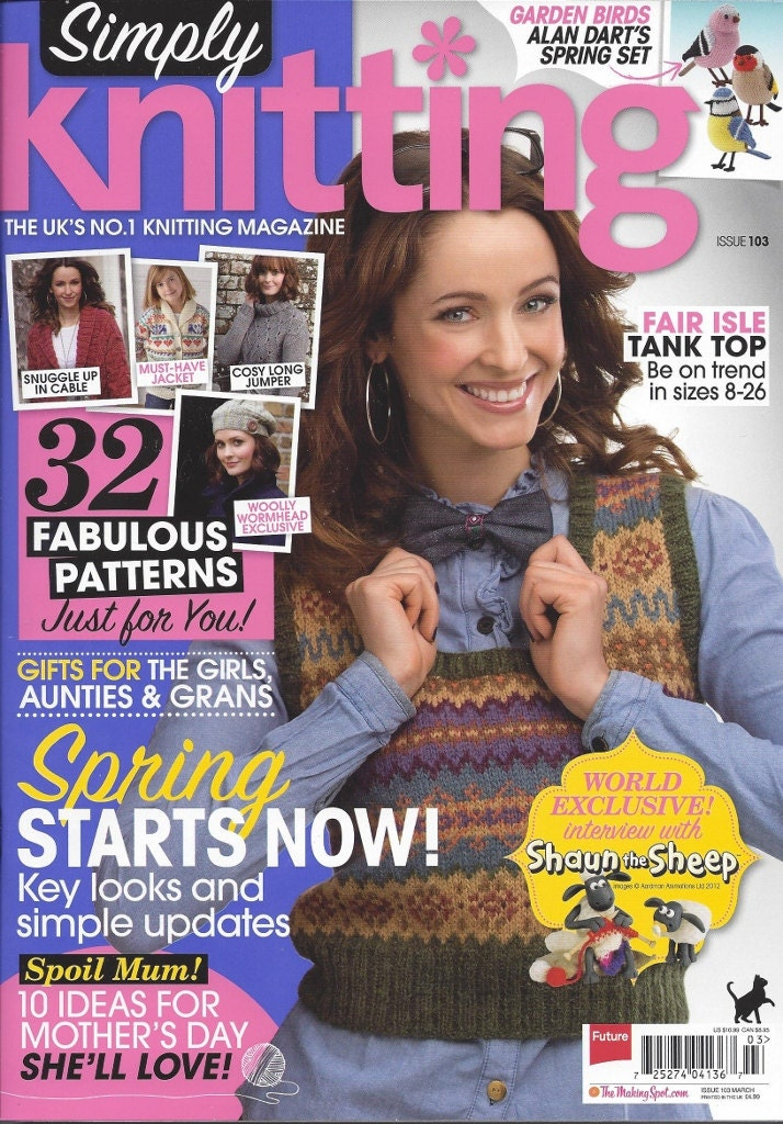 Simply Knitting Magazine : Simply knitting magazine issue march great patterns