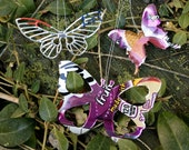Butterfly Recycled Aluminum Can Ornaments - Set of 3