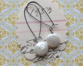 ellene earrings sterling silver coin pearl