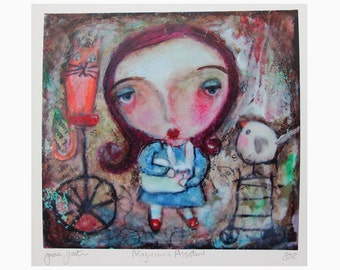 art print, 'Magicians Assistant', print from my original painting,open editon