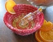 NEGRONI   cocktail inspired textile art basket bowl