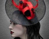Kentucky Derby Hat - Haute Couture Hat - Headpiece  - Fascinator -  Saucer Hat  Horse races