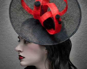 Kentucky Derby Hat - Haute Couture Hat - Headpiece  - Fascinator -  Saucer Hat  Horse races