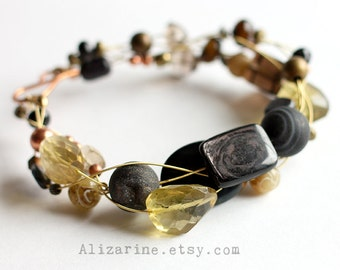 Sunflower - Strung-Out guitar string bracelet