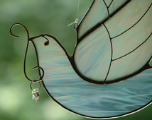 Stained Glass White Winged Dove