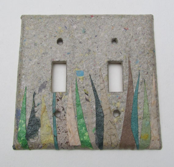 Decorative double grass wall decor light switch plates - Wall switch plates decorative ...
