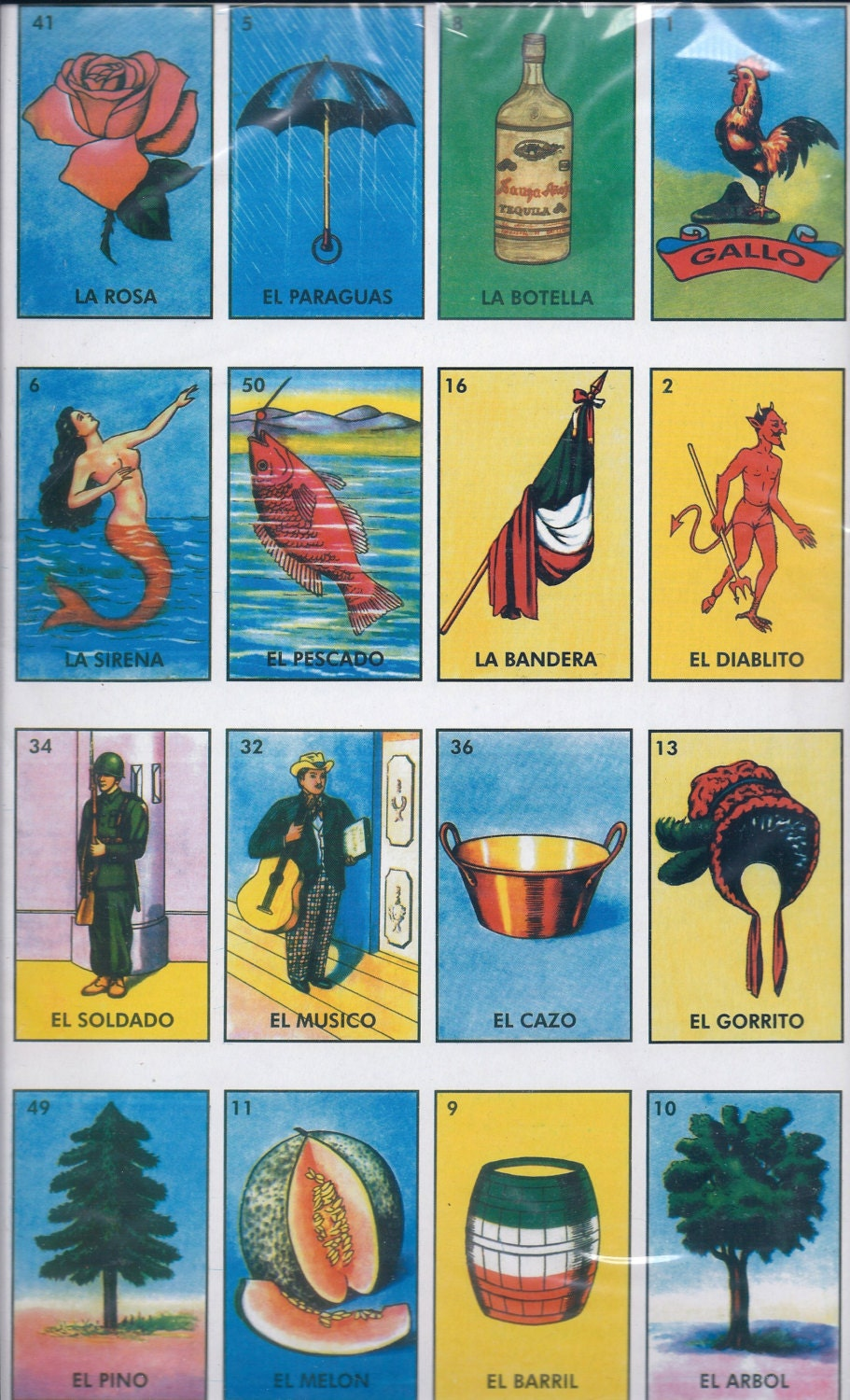 Refreshing image within loteria game printable