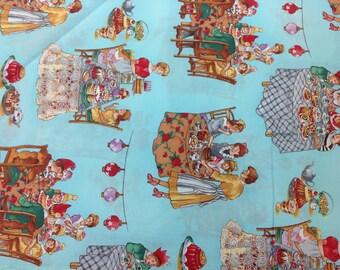 Robert Kaufman Fabric, Better Than Chocolate No Calories Aqua Bkg 1 Yard