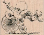 rubber stamps rubber stamps stamping rubberstamp  Rubber stamp wood Octopus Otto's Sweet Ride by Brian Kesinger 19049   Octopus bicycle