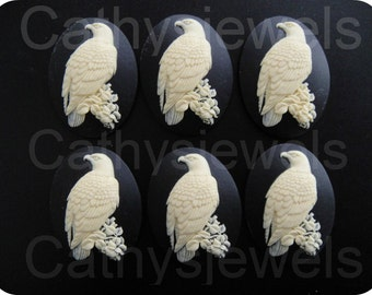 Ivory Eagle Portrait Cameos Set Of Six 40x30