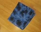 Navy tie dye adult fleece blanket