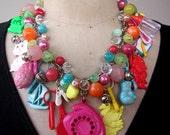 SALE Vintage Necklace, Charm Necklace, Toy Necklace -Toy Story