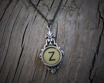 Letter Z  Typewriter Key  Necklace