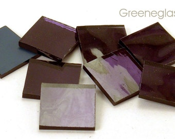 Lavender Mirror Glass for Mosaics and Stained Glass - Med Pack - Diamond, Triangles, Rectangles, Squares, Strips