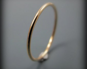 Thin 14K gold filled stacking ring or knuckle ring