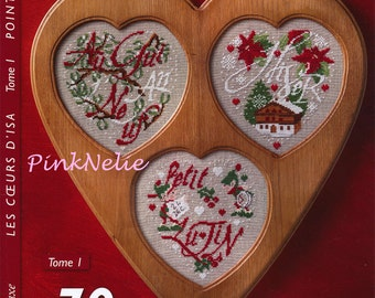 70 Hearts Cross Stitch French Craft Book