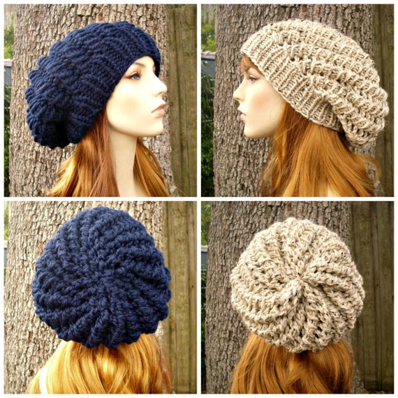 Knitting Pattern For Womens Beret : Instant Download Knitting Pattern - Womens Hat Pattern - Knit Hat Pattern Cyc...