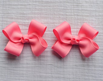 Hair Bows,Old Rose Clippies,Pigtail Hair Bows,Baby Hair Bows,Toddler Hair Bows,Non Slip Bows,Birthday Party Favors