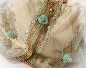CIJ Beach Wedding Purse Aqua Gold Shabby Chic Dreamy Free Shipping