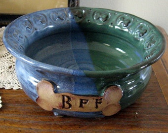 Dog Dish Hand Made for Your BFF