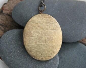 personalize your custom hand stamped soul mantra locket . oval basketweave locket