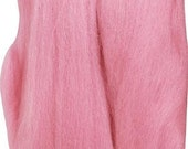 Pink Natural Wool Roving