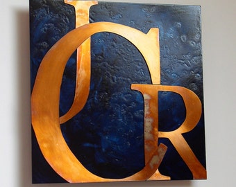 Custom Copper Letter Artwork, 8 inch