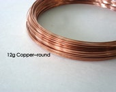 12g Copper Wire pure copper wire wire metalwork jewelry bangles 1 foot 12 inches