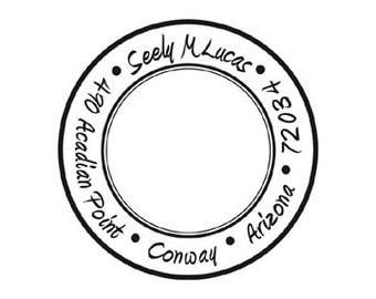 Modern round custom Personalized Return address rubber stamp