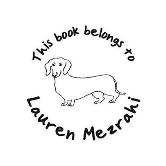this book belongs to dachshund custom Rubber Stamp dog