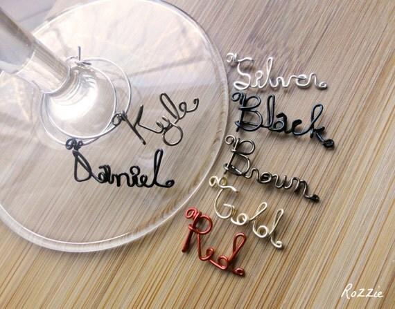 Wine Charms, Custom Wine Markers, Set of 3