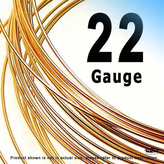 5 feet 22 Gauge 14K Rose Gold Filled Wire Half Hard (HH)