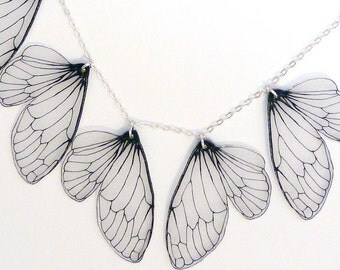 Cicada wing bib necklace