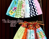 The Scrappy Jane Skirt Instant Download DIY Tutorial PDF Pattern Ebook Little Bird Lane Sizes 12 months to 12 Youth