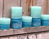 SALE: Trio of Tropical Fruit Slice Scented Pillar Candles