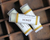 Honey Lip Balm - One Tube Beeswax Shea Cocoa Butter Jojoba