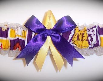 Los Angeles Lakers Wedding Garter   Handmade  Toss   Bridal pg1