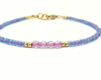 Bohemian Blue Bracelet, Dainty Petite Seed Beads, Friendship Bracelet, Dainty Bracelet, Miss Ceces Jewels Hawaii Jewelry